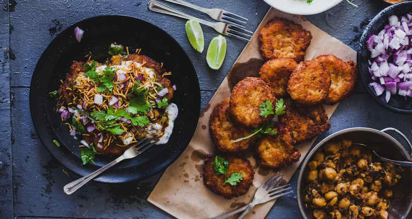 Aloo Tikki and Chole